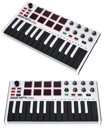 review akai-mpk-mini-mk2-white