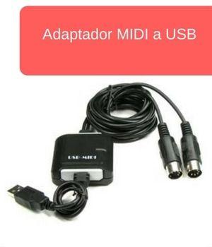 Adaptador para conectar MIDI a ordenador por USB