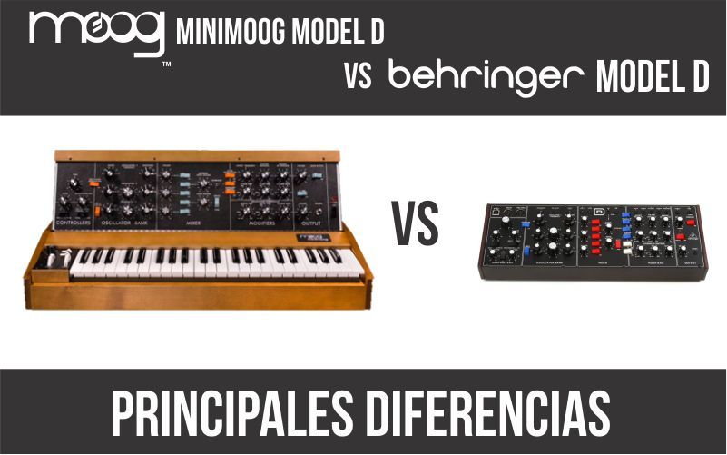 Moog Minimoog Model D vs Behringer Model D